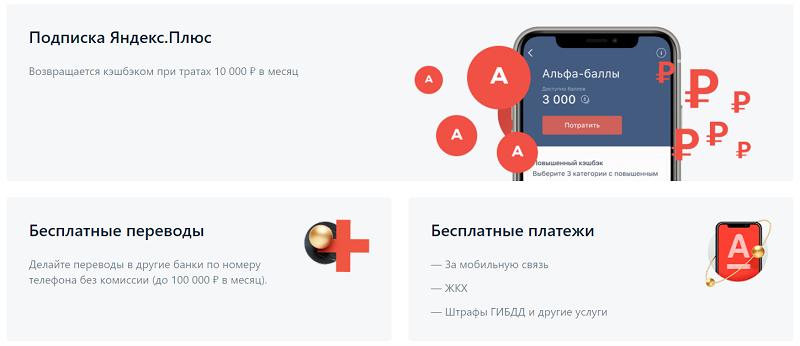 Яндекс Плюс от Альфа банк